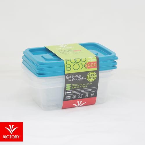 VICTORY Food Box FB500 Trans Clear 1 set ISI 3pcs