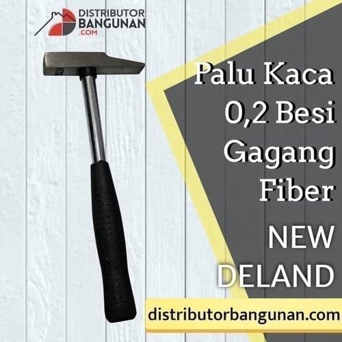 Palu Kaca 0,2 Besi Gagang Fiber NEW DELAND