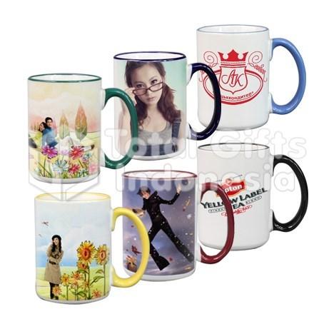 Souvenir Promosi Mug Kist Gagang Warna