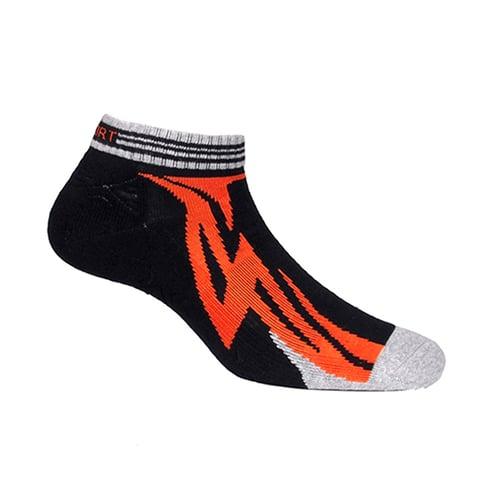 Kaos Kaki Marel Socks Sport Ankle Lightning Orange / Black