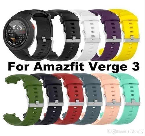 Huami Amazfit Verge Smart Watch Sporty Silicone Strap Varian Blue