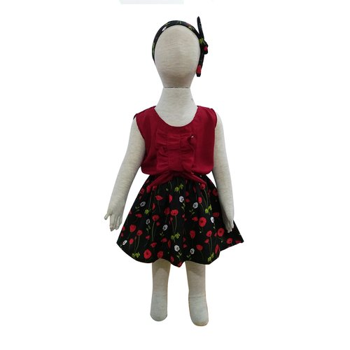 Grow Baju Gaun Harian Anak Perempuan Irish (Grow Irish Gown Dress Clothes Child Girl ) MAROON