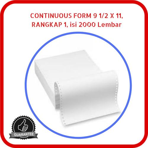 Continuous Form Paper NCR 9.5 x 11 1 Rangkap 2000 Lembar Putih
