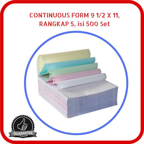 Continuous Form Paper NCR 9.5 x 11 5 Rangkap 500 Set