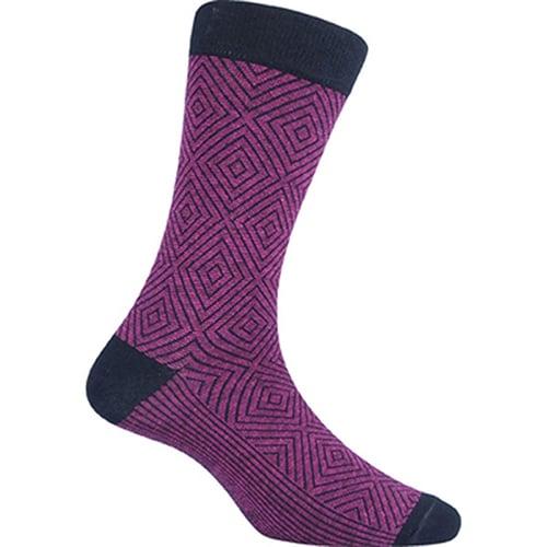 Kaos Kaki Marel Socks Men Hoover Plain Purple/Black