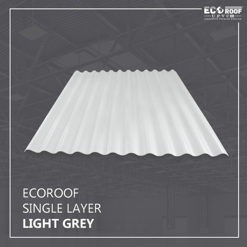 Atap Ecoroof UPVC Single Layer Gel. MH 10 Meter - Light Grey