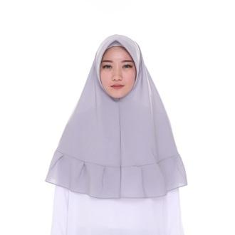 Bellia Hijab - Pasmina Instan REMPEL - Silver
