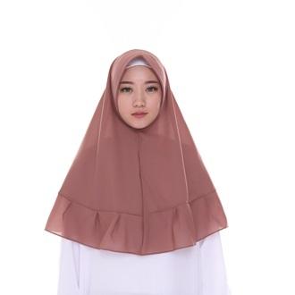 Bellia Hijab - Khimar Rempel - Mocca
