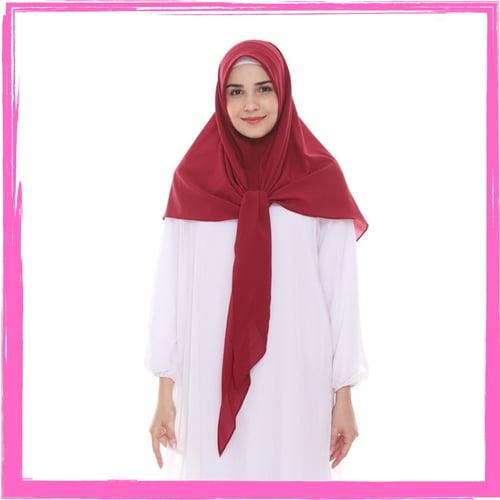 Bellia Hijab - Pasmina Instan - Hijab Segitiga Instan - Merah