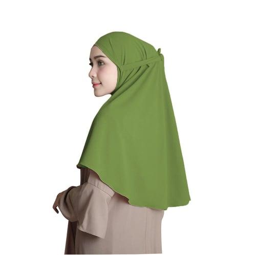 Bellia Hijab - Pasmina Intan Tali - No Pad - Instan - Army
