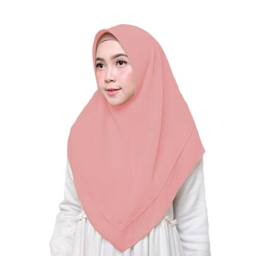 Bellia Hijab - Hijab Instan - Segiempat Instan - Pink Dusty