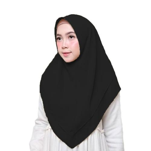 Bellia Hijab - Pasmina Instan - Segiempat Instan - Hitam