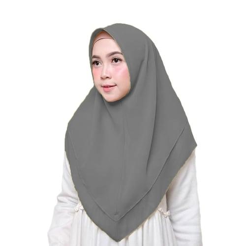 Bellia Hijab - Hijab Segiempat Instan - Silver