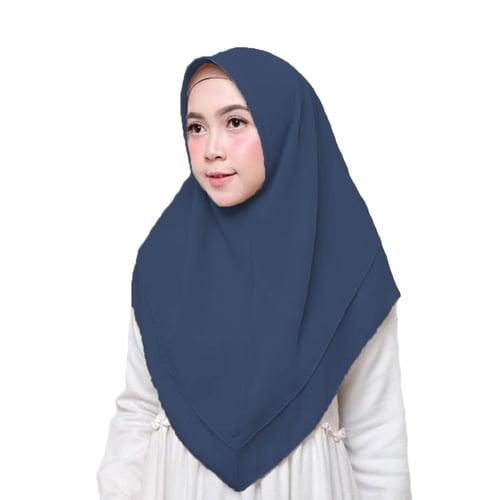 Bellia Hijab - Hijab Segiempat Instan - Navy