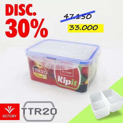Kotak Makan Locking System Victory Kipit - TTR 20 with Divider