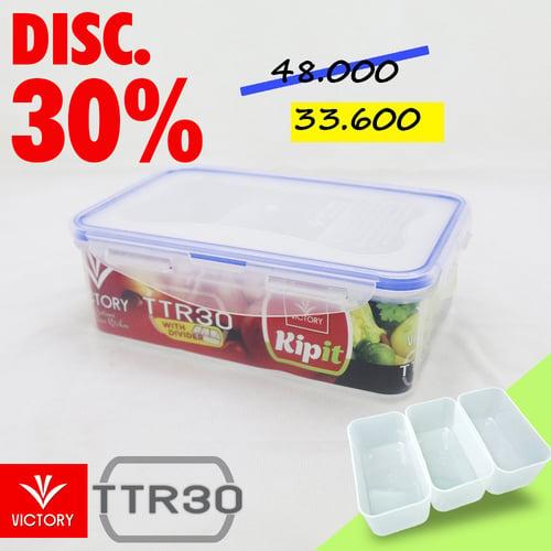Kotak Makan Locking System Victory Kipit - TTR 30 with Divider