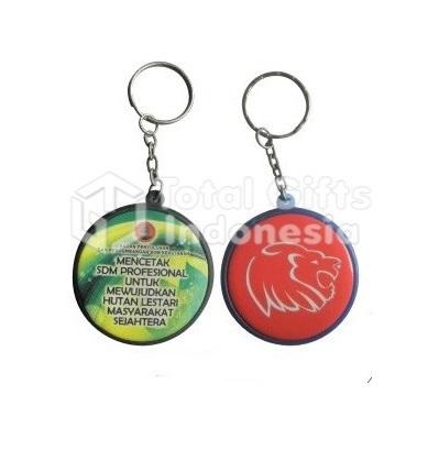 Souvenir Promosi Gantungan Kunci Pin 2 Sisi