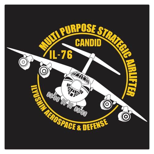 Ilyushin Il-76 MIlitary Transport Aircraft Cutting Sticker