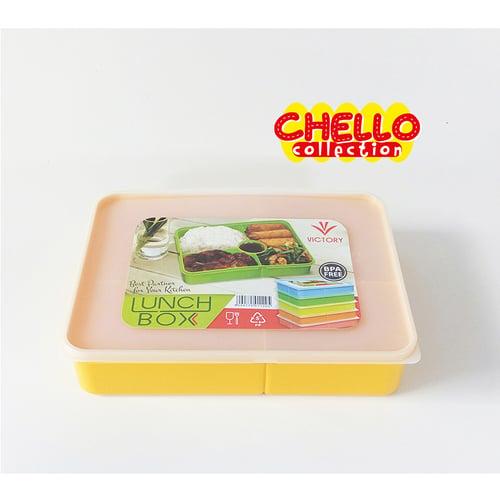Kotak Makan Catering Victory Lunch Box 5 Sekat Tutup Soft
