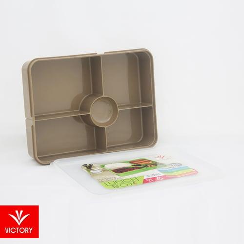 Kotak Makan Catering Victory Lunch Box 5 Sekat - Tutup Transparant Hard