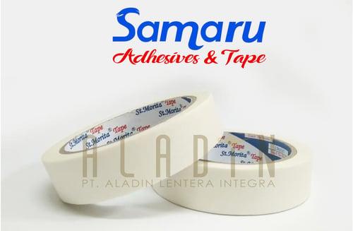 SAMARU MASKING TAPE WHITE / LAKBAN KERTAS - 1 inch x 13 yard