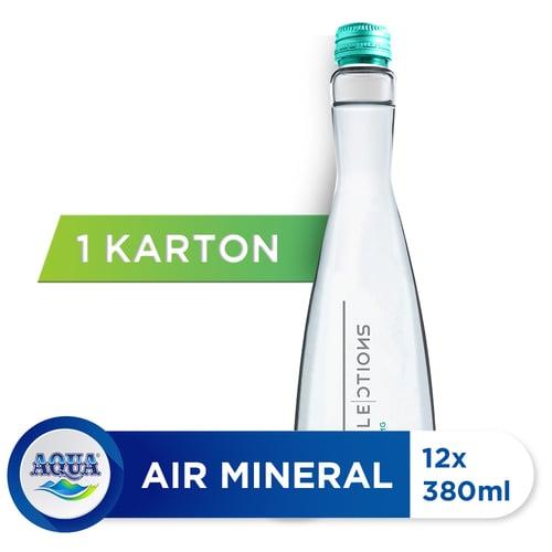 AQUA Sparkling Water 380 ml Isi 12 Botol
