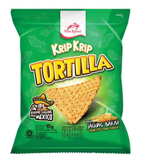 Krip Krip Tortilla Jagung Bakar 15 g (60 pcs)