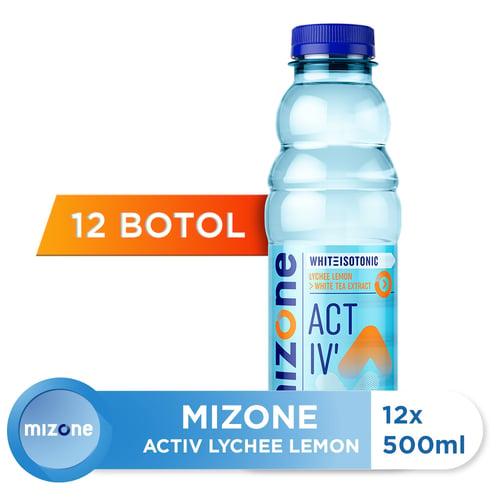 MIZONE Minuman Isotonik Bernutrisi Lychee Lemon 500ml Isi 12 Botol