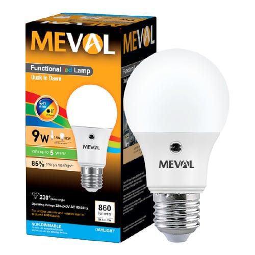 Meval LED Photo Sensor 9W - Putih