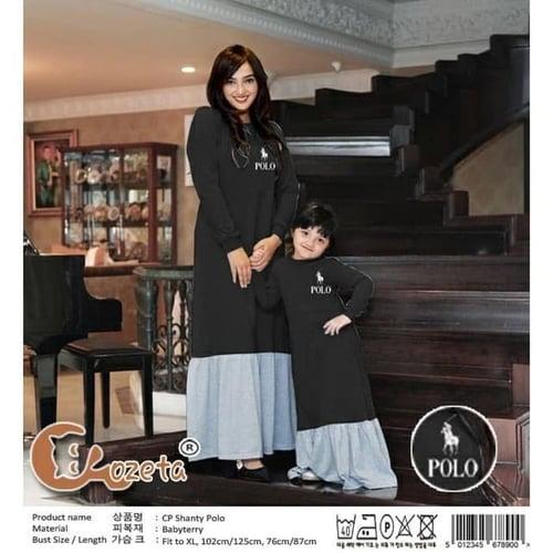 Couple Shanty Bordir Couple Ibu Anak Gamis Muslimah Model Casual