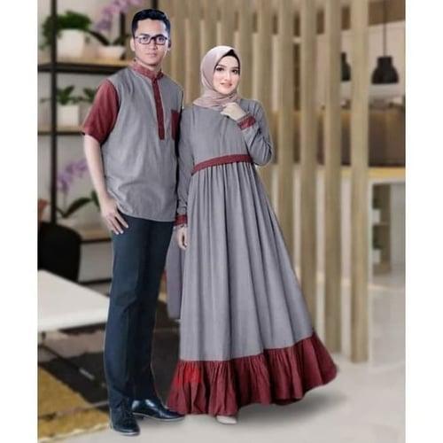 Couple Himalaya Busui Couple Gamis Muslimah Model Casual