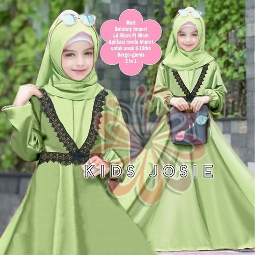 Gamis Josie Maxi Dress Syari Anak Muslimah Model Casual