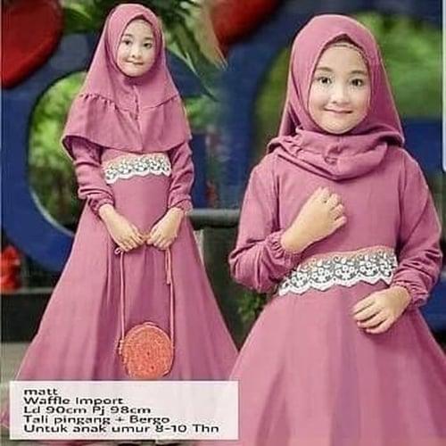 Gamis Sasa Maxi Dress Syari Anak Muslimah Model Casual