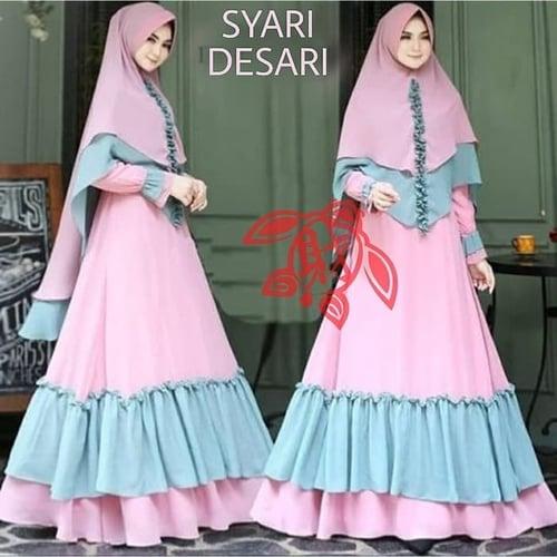 Gamis Desari Jumbo Busui Maxi Dress Syari Muslimah Model Casual