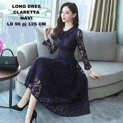 Dress Claretta Long Dress Model Casual
