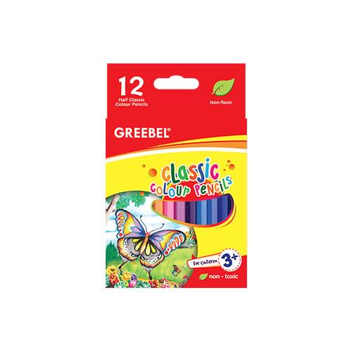 GREEBEL 3012 Half Classic Colour Pencil 12 Warna