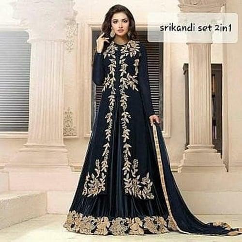 Dress Srikandi Bordir Maxi Dress India Model Casual