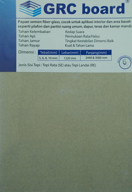 GRC board 6 mm x 1220 mm x 3000 mm