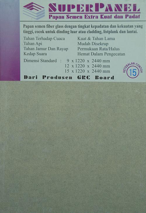 GRC Super Panel 15 mm x 1220 mm x 2440 mm