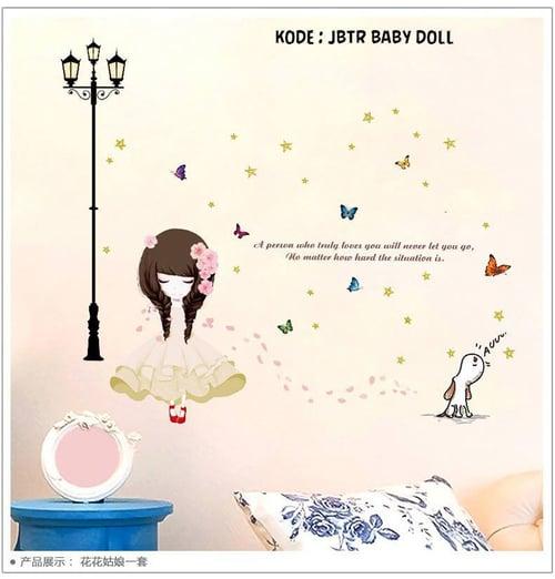 Termurah & Best Seller ! Sticker Dinding Wallsticker Baby Doll