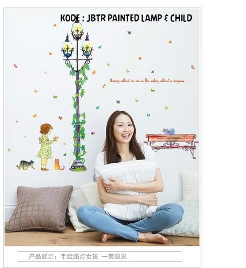Termurah & Best Seller ! Sticker Dinding Wallsticker Painted Lamp