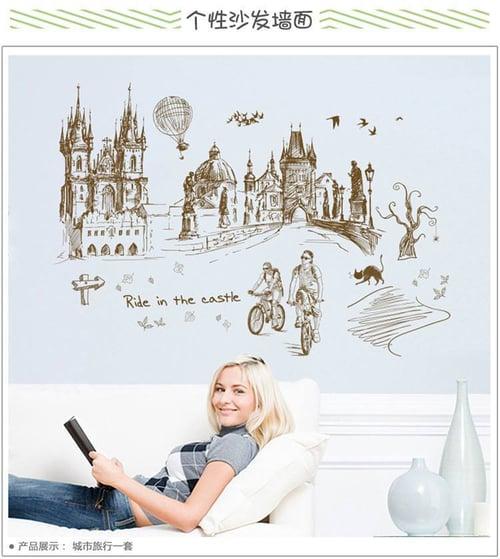 Termurah & Best Seller ! Sticker Dinding Wallsticker Ride in castle