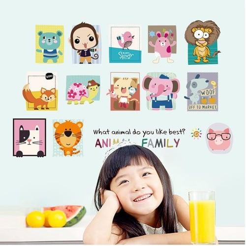 Termurah & Best Seller ! Sticker Dinding Wallsticker Animal Family