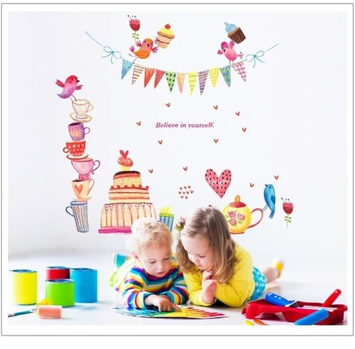 Termurah & Best Seller ! Sticker Dinding Wallsticker Birthday Cake