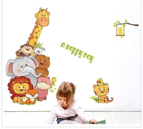 Termurah & Best Seller ! Sticker Dinding Wallsticker Happy Day Animal