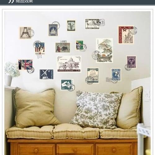 Termurah & Best Seller ! Sticker Dinding Wallsticker Perangko