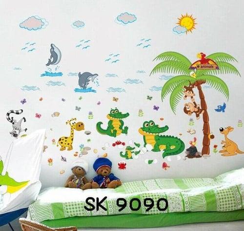Termurah & Best Seller ! Sticker Dinding Wallsticker Buaya pohon kelapa