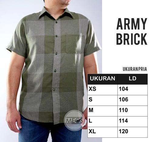 Kemeja MECS Pria Army Brick Lengan Pendek Berkualitas