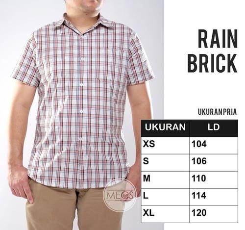 Kemeja MECS Pria Rain Brick Lengan Pendek Berkualitas