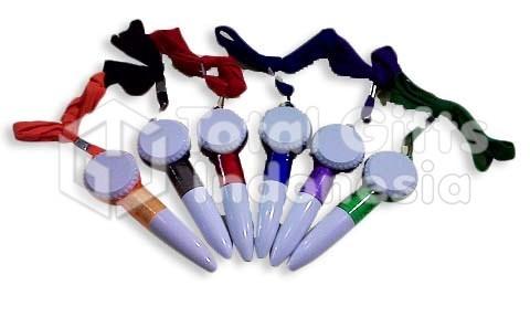 Souvenir Promosi Pen Plastik Tali Raket Kecil